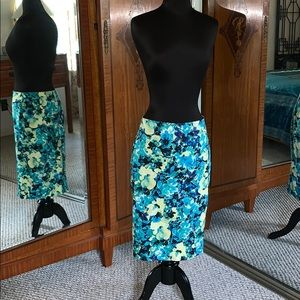 Ann Taylor Floral Print Pencil Skirt